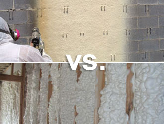 Different types of foam insulation - closed-cell vs. open-cell